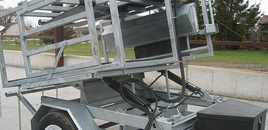 Skid Steer Hoof Trimming Tables And 3 Point Hitch Comes With Or Without  Hydraulic Pump. DC Or AC Monarch Pumps. Galvanized Chutes For Extra Long  Life.